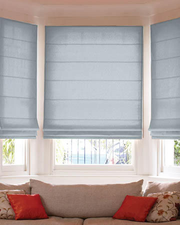 Prestigious Panama Ice Blue Roman Blinds