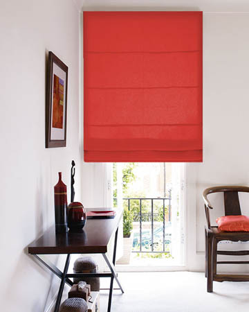 Prestigious Panama Red Roman Blinds
