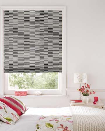 Prestigious Parquet Chrome Roman Blinds