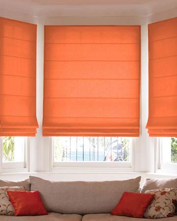 Prestigious Polo Red Orange Roman Blinds