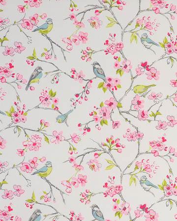 Studio G Birdies Pink Roman Blinds