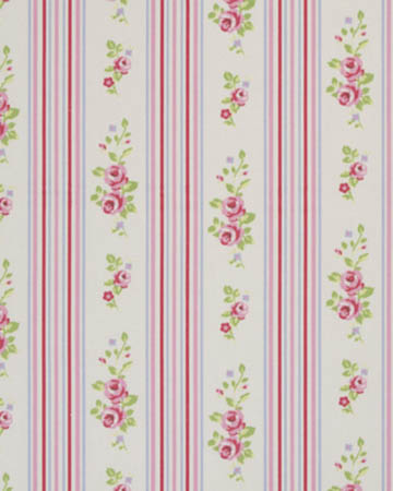 Studio G Floral Stripe Chintz Roman Blinds