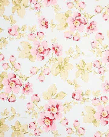 Tissu Lily Rose Arabesque Bleu Rose Roman Blinds