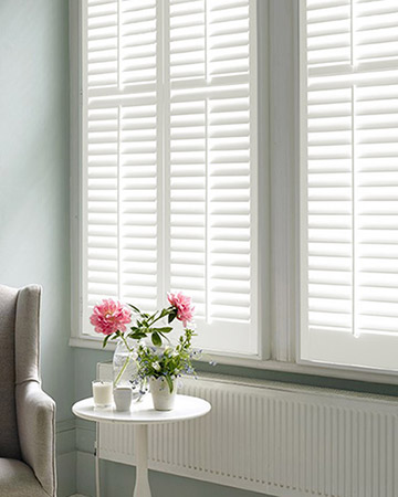 Light Cream Shutters