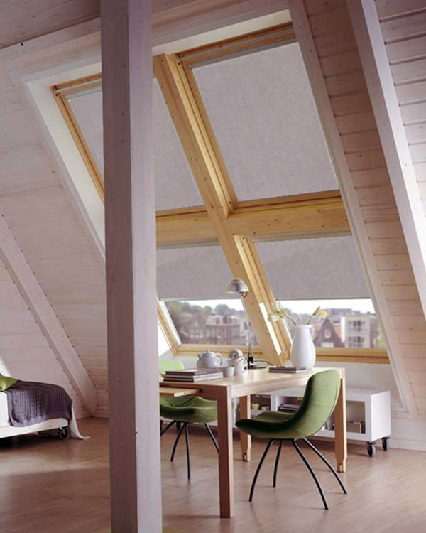 Original grey blackout blinds for velux roof windows for Velux ggl 808 dimensions