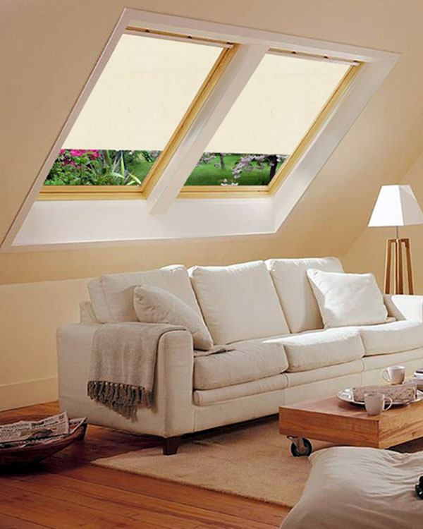 Original light beige blackout blinds for velux roof windows for Velux ggl 808 dimensions