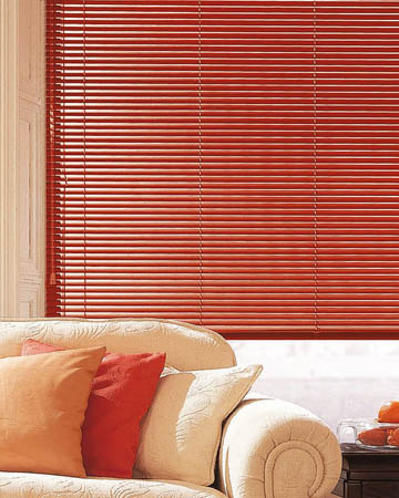 Beautiful Red Aluminium Venetian Blinds