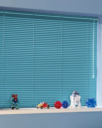 Light Blue Aluminium Venetian Blinds