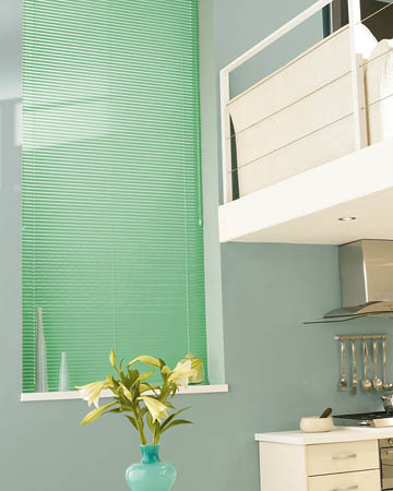 Light Green Aluminium Venetian Blinds
