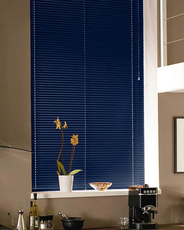 Navy Blue Aluminium Venetian Blinds