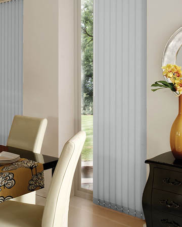 Decora Bella Grey Whisper Vertical Blinds