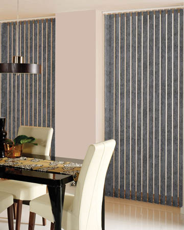 Decora Toro Pewter Vertical Blinds
