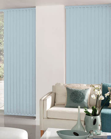 Decora Unilux Powder Blue Vertical Blinds