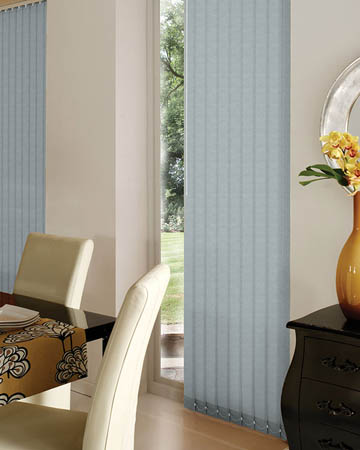 Atlantex ASC Silver Vertical Blinds