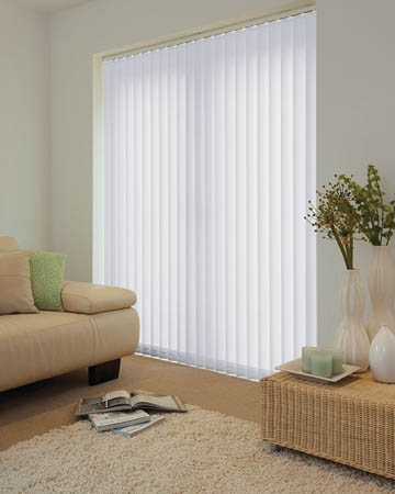 Plain Grey Vertical Blinds