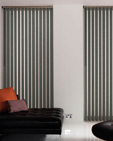 Global Plain Dark Grey Vertical Blinds