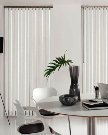Gloss White Vertical Blinds