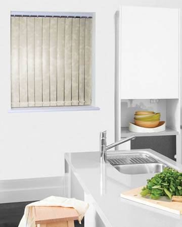 Wipeable Marble Cream Vertical Blinds