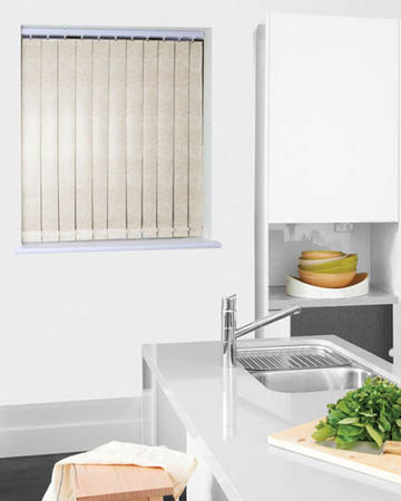 Wipeable Samba Mist Vertical Blinds