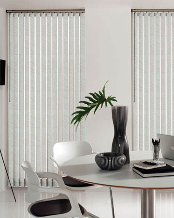 Wipeable Samba Oyster Vertical Blinds