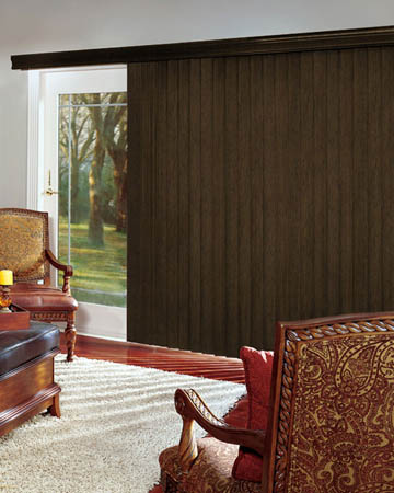 African Olivewood Vertical Blinds
