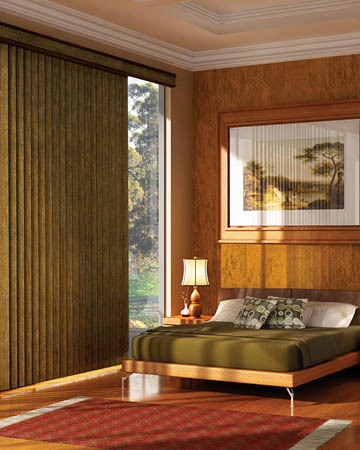 Aged Oak Vertical Blinds