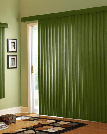 Army Green Vertical Blinds