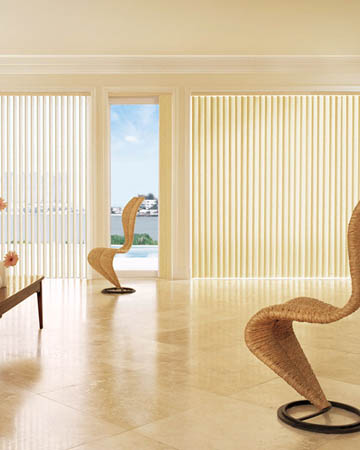 Ecru Vertical Blinds