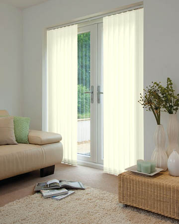 Milk Vertical Blinds