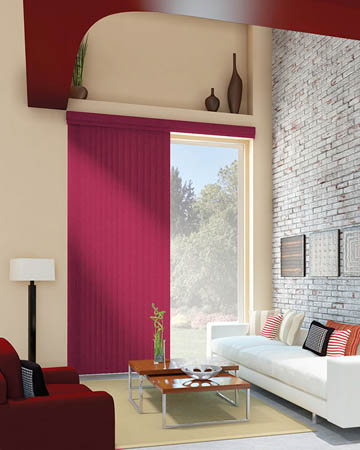Pink Vertical Blinds