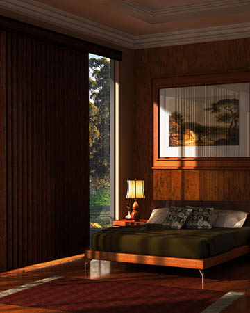 Premium Mahogany Vertical Blinds