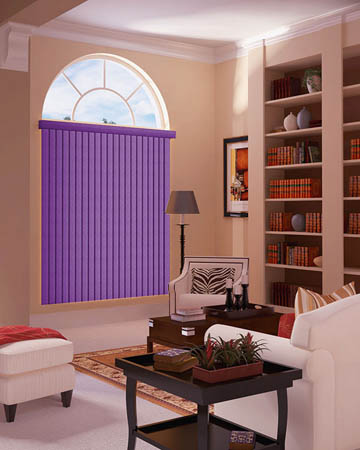 Violet Vertical Blinds