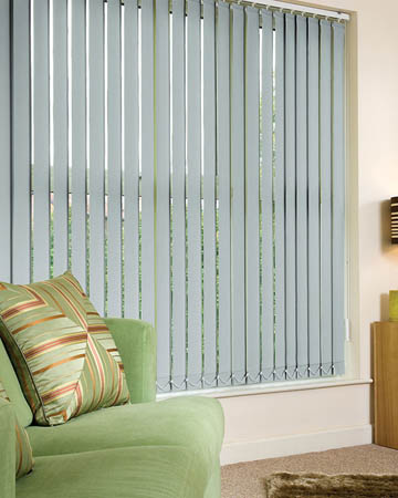 Eclipse Atlantex Silver Vertical Blinds