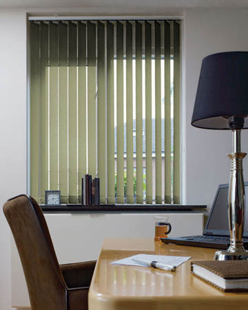 Eclipse Palette Green Vertical Blinds