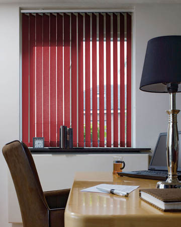 Eclipse Palette Redcurrant Vertical Blinds