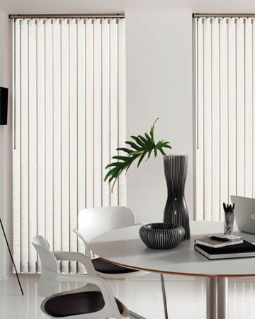 Eclipse Palette White Vertical Blinds