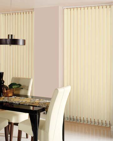 Louvolite Basix Blackout Alabaster Vertical Blinds