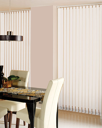 Louvolite Basix Blackout Eggshell Vertical Blinds