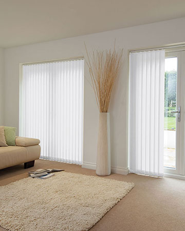 Louvolite Basix White Vertical Blinds