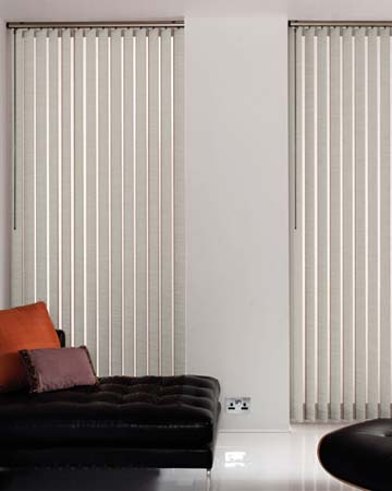 Louvolite Boucle Grey Vertical Blinds