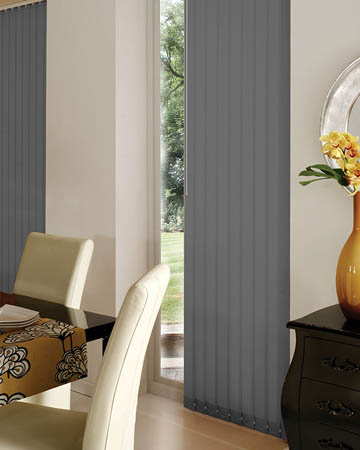 Louvolite Carnival Pewter Vertical Blinds