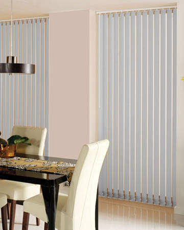 Louvolite Colourtex Ash Vertical Blinds