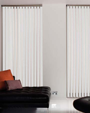 Louvolite Coral White Vertical Blinds
