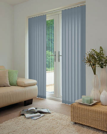 Louvolite Exlite Slate Vertical Blinds