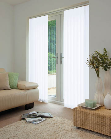 Louvolite Exlite White Vertical Blinds