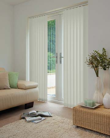 Louvolite Mineral Silver Vertical Blinds
