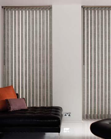 Louvolite Open Linen Dove Grey Vertical Blinds