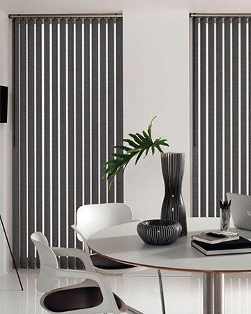 Louvolite Oslo Graphite Vertical Blinds