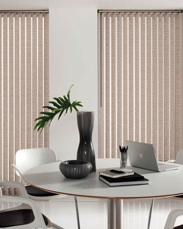 Louvolite Palm Caramel Vertical Blinds