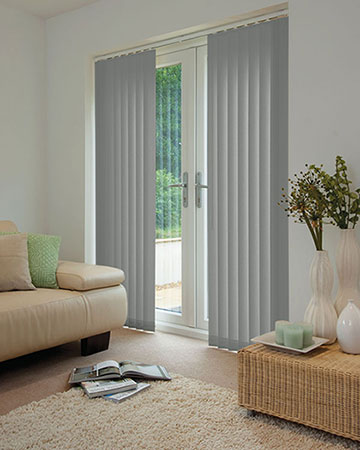 Louvolite Phoenix Soft Grey Vertical Blinds
